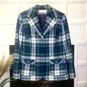 Vintage Pendleton Tartan Plaid Wool Blazer